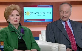 Plaza Health Network President and CEO Elaine Bloom and Chairman Ronald Lowy Photo: NBC 6