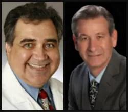Broward Health surgeon Dr. Nicholas Tranakas, left, and Broward Health Medical Center Dr. Louis Yogel