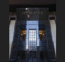 The entrance to the Humana headquarters in Louisville, Kentucky.