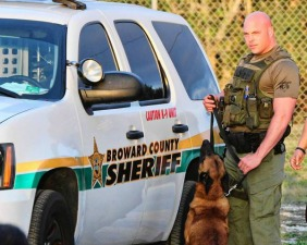 """Gerald Wengert in a publicity photo for """"Unleashed: K-9 Broward County"""""""