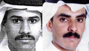 9/11 hijackers Khalid al-Mihdhar, right, and Nawaf al-Hazmi.