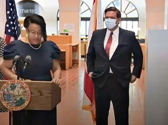Renatha Francis, newest member of Florida Supreme Court, with Gov. Ron DeSantis las tweek.
