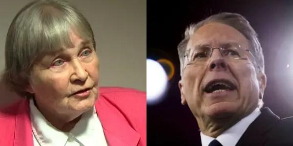 NRA lobbyist Marion Hammer and NRA CEO Wayne LaPierre