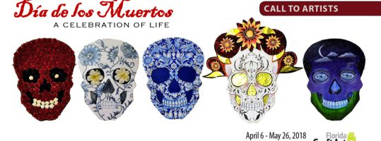 Dios de los muertos call to artists Florida craftart