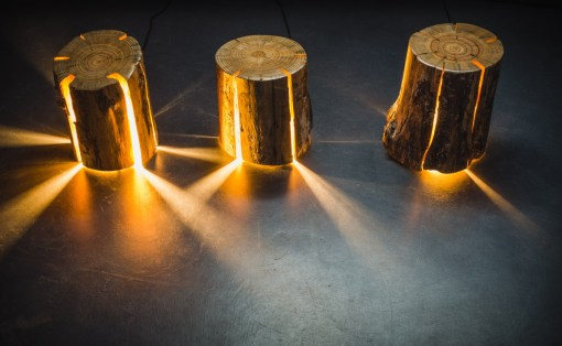 Duncan Meerding Cracked Log Lamp