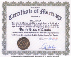 Florida Common Law Marriage, Jacksonville Common Law, Orange park, Ponte Vedra Beach