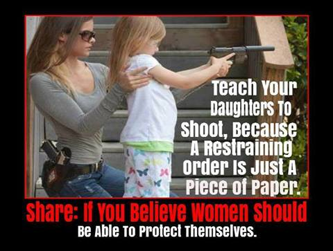 Teach your daughters to shoot poster