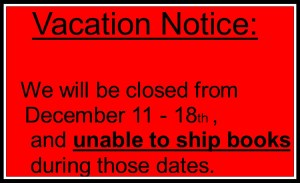 notice of vacation