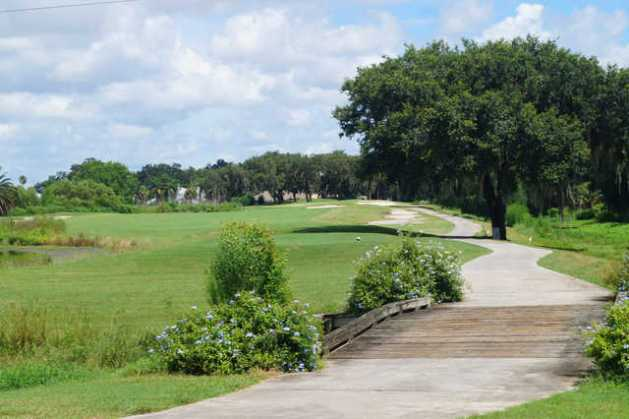 Ridgewood Lakes Golf   Country Club in Davenport     View of the 18th tee at Ridgewood Lakes Golf Club