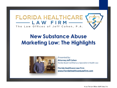 New Substance Abuse Marketing Law: The Highlights