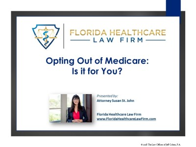 opting out of medicare