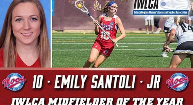 FSC:  Santoli Named IWLCA Midfielder of the Year Again!