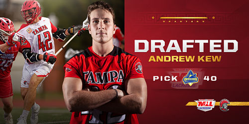 Tampa Men: Andrew Kew Drafted to Major League Lacrosse by the Florida Launch