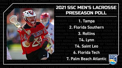 SSC:  Tampa Voted #1 in 2021 SSC Men's Lacrosse Preseason Poll!