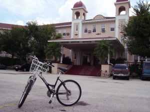 Kenilworth Lodge with bike
