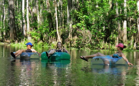 Tubing Ichetucknee Springs State Park. (Photo: Bonnie Gross)