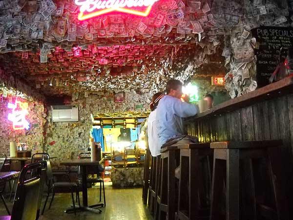 Florida Keys No Name Pub, view of the bar