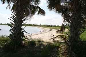 Protected beach inside Sebastian Inlet