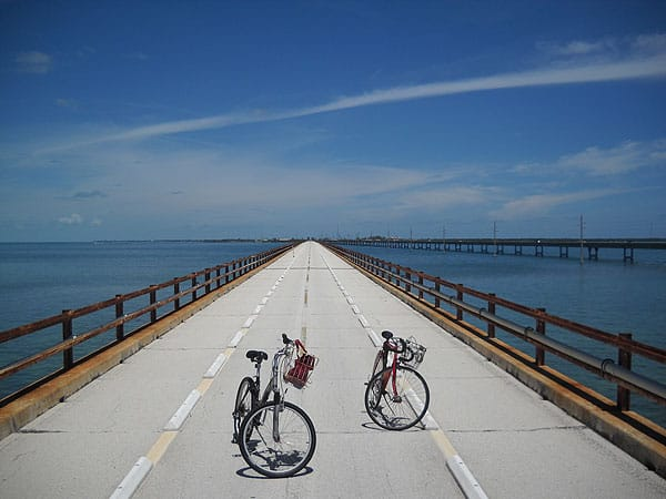 Old seven mile bridge pigeon key history and scenery for Key west bike trails