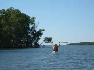 Paddler on Indian Key Pass