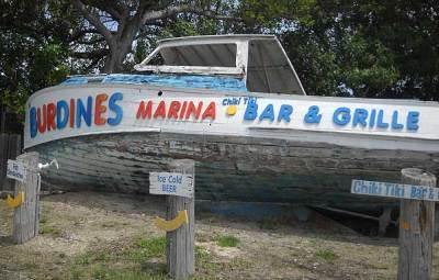 An out-of-the-way tiki bar: