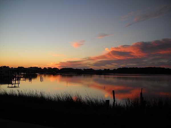 Cedar Key, Florida, sunset
