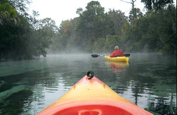 Kayaks at Weeki Wachee Springs State Park, Florida