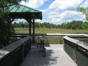 Observation deck along trail of Markham Road
