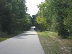 Rider on a quiet, deserted section of the Seminole Wekiva Trail