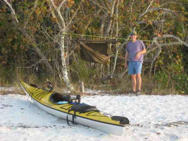 Warren Richey with his jungle hammock