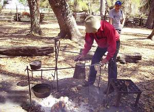 Lake Kissimmee State Park Cow Camp fire