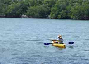 Kayak fishing on Hutchinson Island