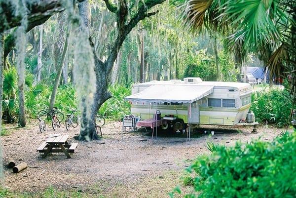 Campsite at Myakka River State Park