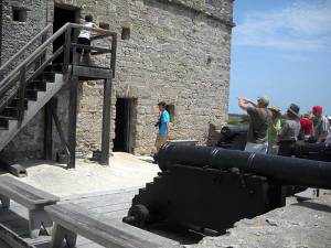 Gun deck at Fort Matanzas near St. Augustine