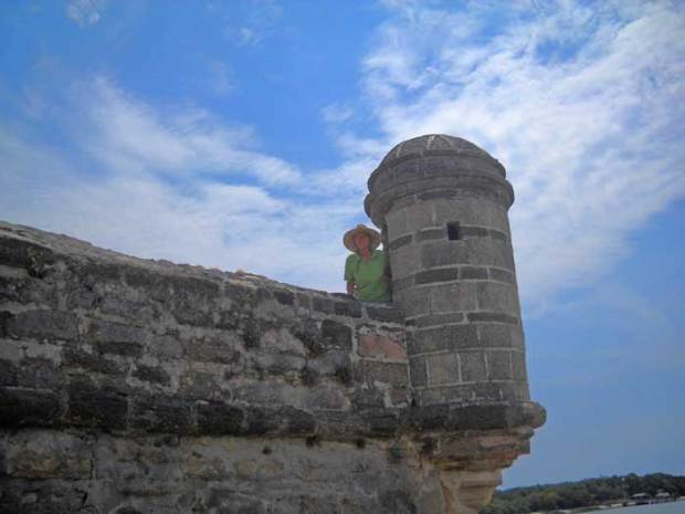 A turret at Fort Matanzas near St. Augustine