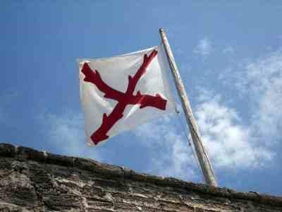 Spanish flag at Fort Matanzas near St. Augustine