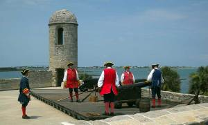 St. Augustine fort cannon demonstration