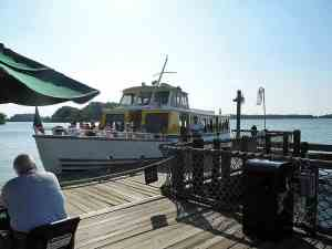 Ferry transports Fort Wilderness guests to the Magic Kingdom