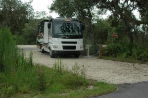 New shell-rock campsite at Myakka River State Park