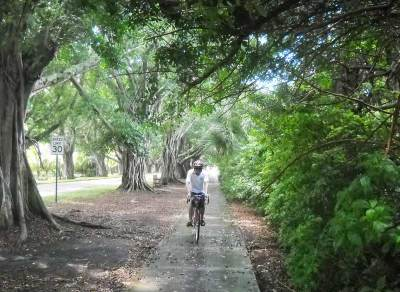 Biking Jupiter Island: Bike route along Bridge Road