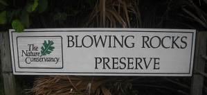 Biking Jupiter Island: Sign for Blowing Rocks preserve