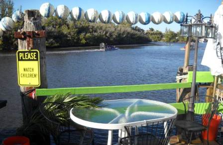 The view of the Barron River from Camelia Street Grill