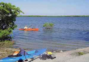 Boat launch at the end of Niles Road on Summerland Key.
