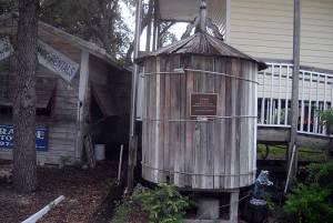 Historic cistern at Grande Tours Kayak Center, Placida, Florida