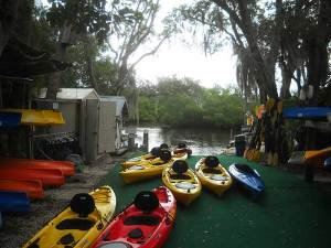 Kayak launch area at Grande Tours, Placida, near Punta Gorda