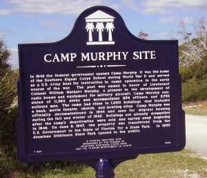 Jonathan Dickinson State Park Camp Murphy historic sign