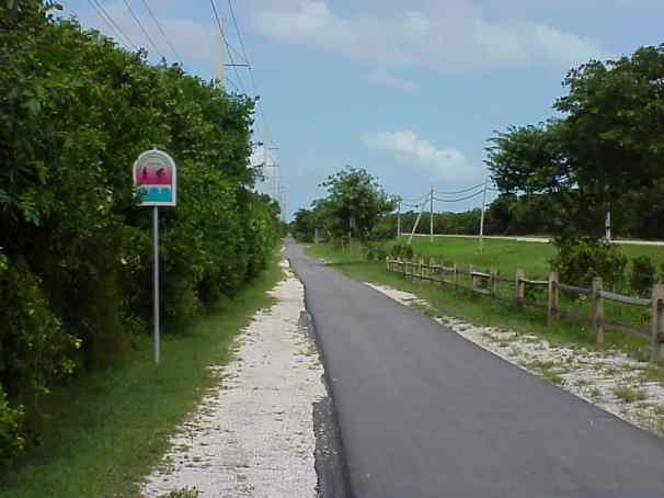 Overseas Highway bike trail.
