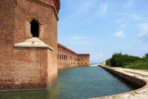 the moat at fort jefferson by peter elmon