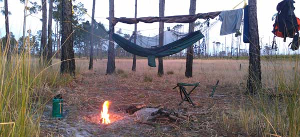 backpacking hammock tent primitive camping unlimited in ocala national forest   florida rambler  rh   floridarambler