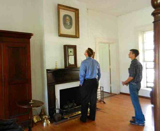 Portrait of Robert E. Lee at Gamble Mansion near Sarasota